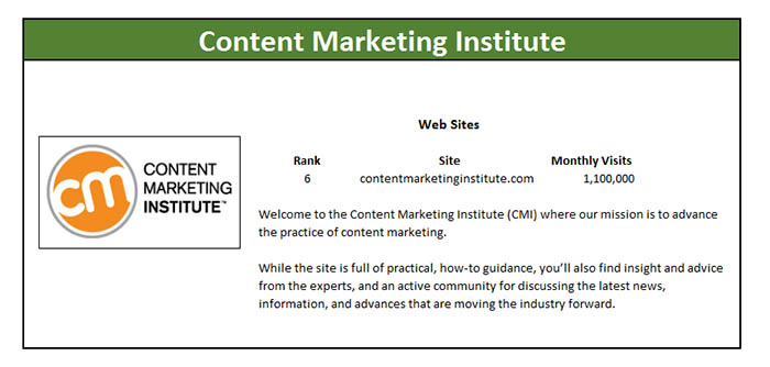 content marketing institute marketing master profile