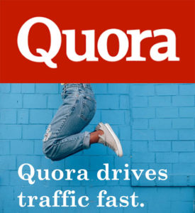 quora drives traffic fast is a good source